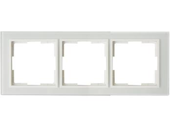 3-fach Rahmen / Steckdose-/Schalterblende für den Innenbereich aus Glas