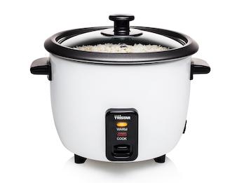 Reiskocher, 0,6 Liter Inhalt, weiß, 300 Watt, Warmhaltefunktion, campingtauglich