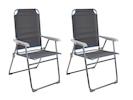 2er-Set faltbare Campingstühle/ Klappstühle, Sitzhöhe 44cm, Belastbar bis 120kg