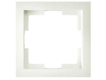 1-fach Rahmen / Schalterblende aus der Serie Slim-Line in Cremeweiß, eckig