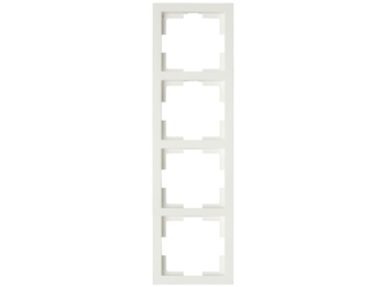 4-fach Rahmen / Schalterblende Modul in Cremeweiß, eckig
