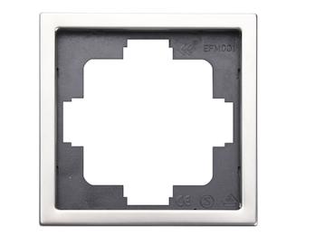 1-fach Rahmen / Blende, Edelstahl beschichtet, für den Innenbereich, eckig