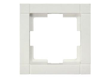1-fach Rahmen / Schalterblende Modul in Cremeweiß, eckig
