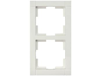 2-fach Rahmen / Schalterblende Modul in Cremeweiß, eckig
