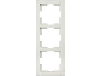 3-fach Rahmen / Schalterblende Modul in Cremeweiß, eckig