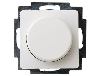 Helligkeitsregler/Dimmer für Innen aus Kunststoff, in polarweiß, eckig,  50-300W