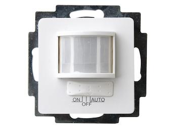 Bewegungsmelder zum Einsetzen aus Kunststoff für Innen, in polarweiß, 120°/12m