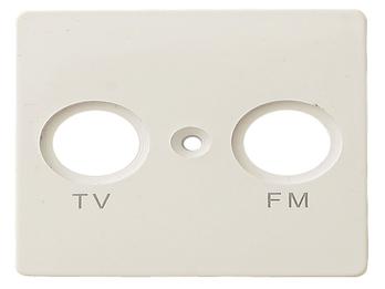 TV und FM Abdeckung aus Kunststoff, in weiß, eckig