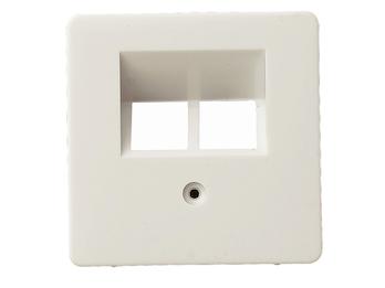 ISDN Abdeckung aus Kunststoff, in weiß, eckig