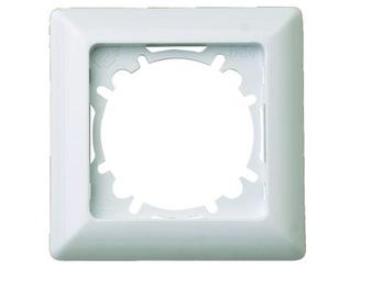 1-fach Rahmen/Schalterblende für den Innenbereich aus Kunststoff, in polarweiß