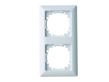 2-fach Rahmen/Schalterblende für den Innenbereich aus Kunststoff, in polarweiß