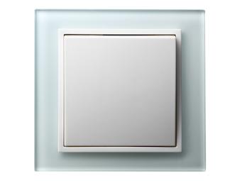 Hochwertiges Wechselschalterset aus der Serie Tec-line, inklusive Glasrahmen