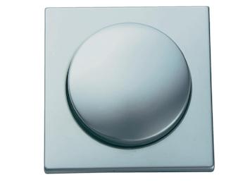 Einsatz Helligkeitsregler / Dimmer, Edelstahl beschichtet, 20-300 Watt, eckig