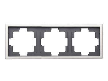 3-fach Rahmen / Blende, Edelstahl beschichtet, für den Innenbereich, eckig