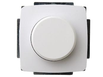 Helligkeitsregler ohne Rahmen aus Kunststoff für Innen, in weiß, 20-300 Watt