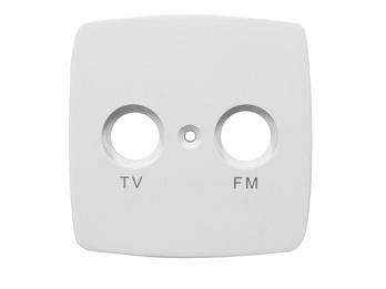 TV & FM  Abdeckung aus Kunststoff für den Innenbereich, in weiß