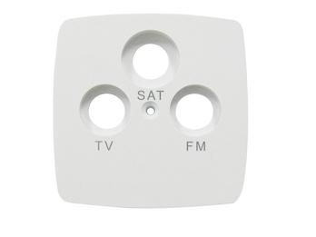 SAT-Abdeckung aus Kunststoff für den Innenbereich, in weiß