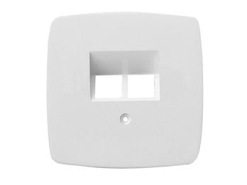 ISDN Abdeckung aus Kunststoff für den Innenbereich, in weiß