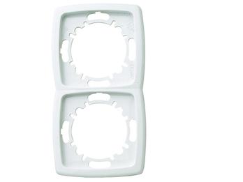 2-fach Rahmen / Blende aus Kunststoff für den Innenbereich, in Polarweiß
