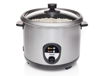Edelstahl Reiskocher groß mit 2,2 Liter & Warmhaltefunktion