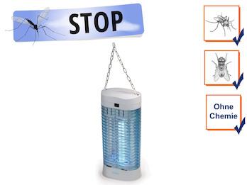 Insektenvernichter mit UV Lampe & Aufhängung, Stechmückenfalle Mückenschutz