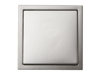 Hochwertiges Tasterschalterset aus der Serie Inox, inkl. Rahmen