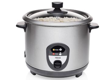 Elektrischer Reiskocher 1,5 Liter Edelstahl mit Warmhaltefunktion