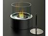 Edler Tischkamin für Bio-Ethanol, Tischfeuer Ø 16cm, inkl. Löschhilfe