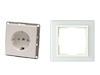 Hochwertiges Schutzkontaktsteckdosenset inkl. Glasrahmen aus der Serie Tec-Line