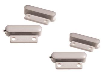 2er Set Mini-Magnetkontakt Fenster und Türen, 3,4 x 1,5 x 0,8 cm, Einbruchschutz