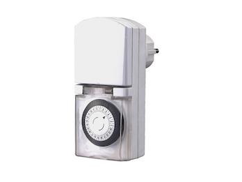 Kompakte Tageszeitschaltuhr Mini, Feuchtraum geeignet, IP44