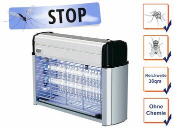 Profi Insektenvernichter mit 2x 6Watt UV-Lampen, Wirkungskreis bis 30 m²