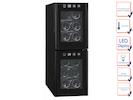 Profi Weinkühlschrank, 12 Flaschen, 7-18° C , 2 getrennte Temperaturzonen