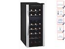 Profi Weinkühlschrank für 21 Flaschen, 2 Temperaturzonen, 7-18° C  und 11-18° C