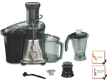 Multifunktions Profi-Saftpresse, 950 Watt, inkl. Mixeraufsatz und Kaffeemühle