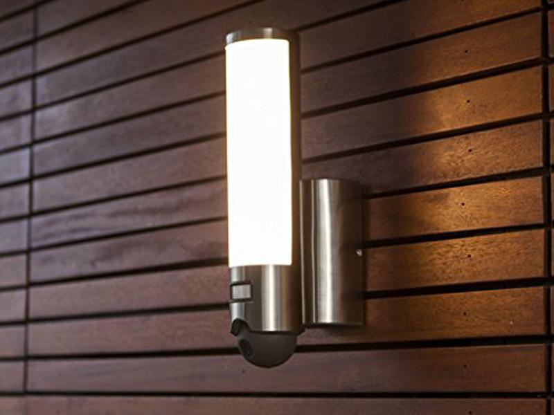 Led Aussenleuchte Wandlampe Elara Mit Bewegungsmelder Und Kamera