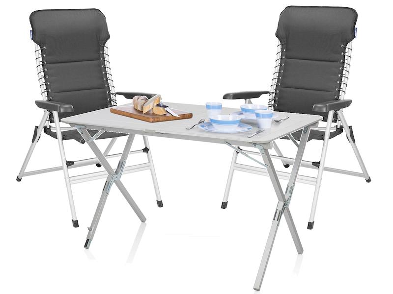 Camping SET Alu Campingtisch Mit Stühlen Rolltisch Tisch