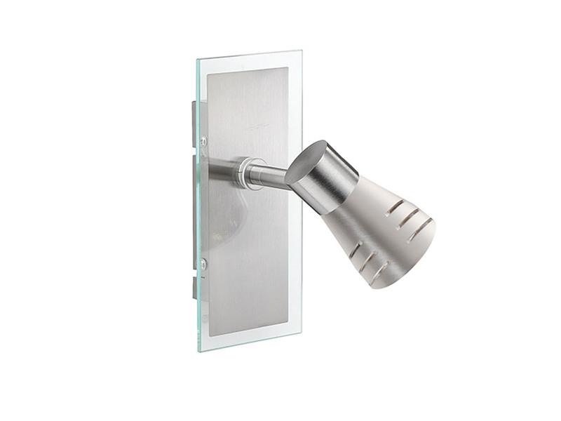 Wandlampe Spot mit Schalter Wandleuchter Glas schwenkbar Leseleuchte Flurlampe