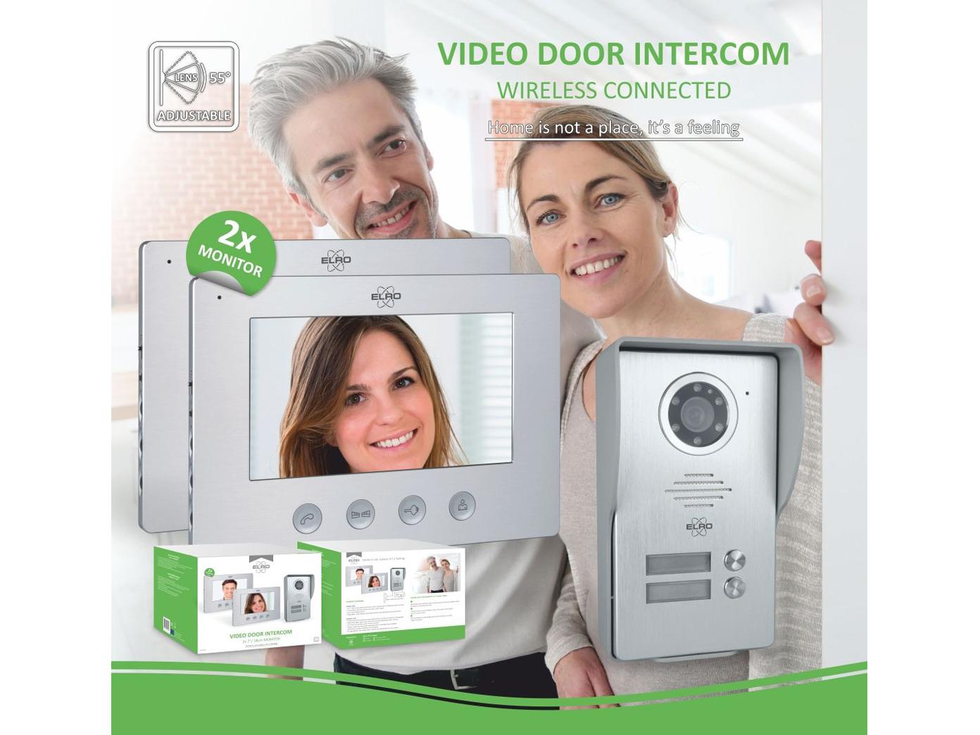 Video Türsprechanlage mit 2x Monitor & Außenkamera, Klingelanlage 2Familienhaus 8
