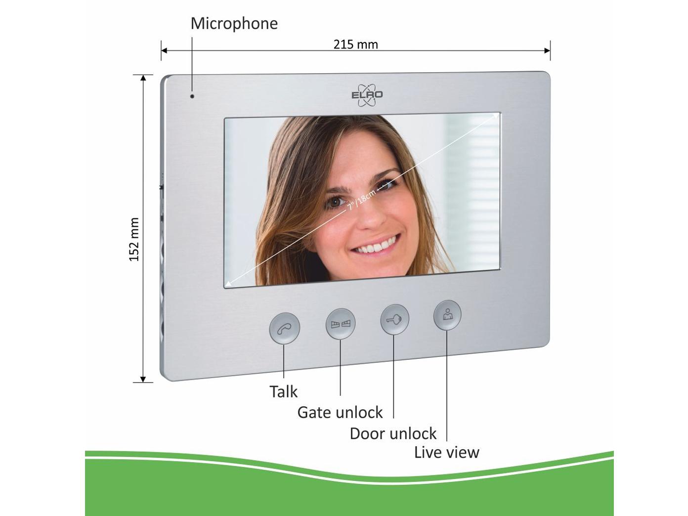 Video Türsprechanlage mit 2x Monitor & Außenkamera, Klingelanlage 2Familienhaus 4