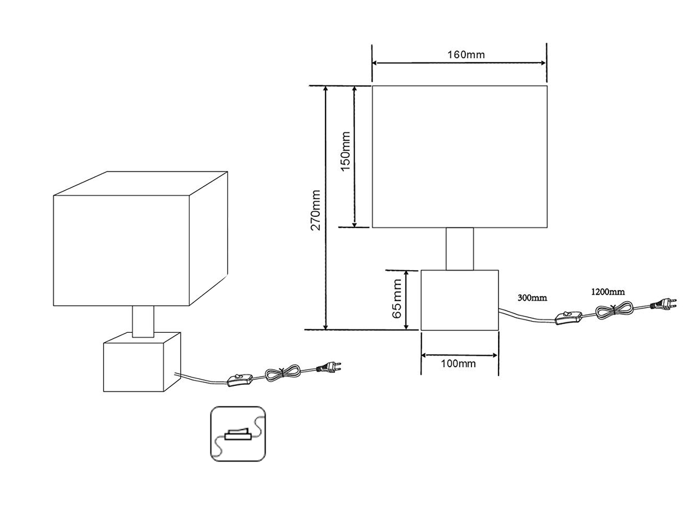 LED quadrati soggiorno lampada lampada lampada mix di materiali Marmo & tessuto schermo in bianco be682d
