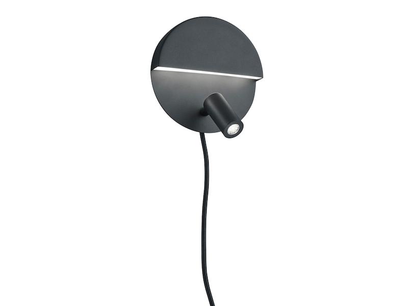 A+ getrennt schaltbar Wandlampe mit Schalter LED Innenleuchte matt schwarz