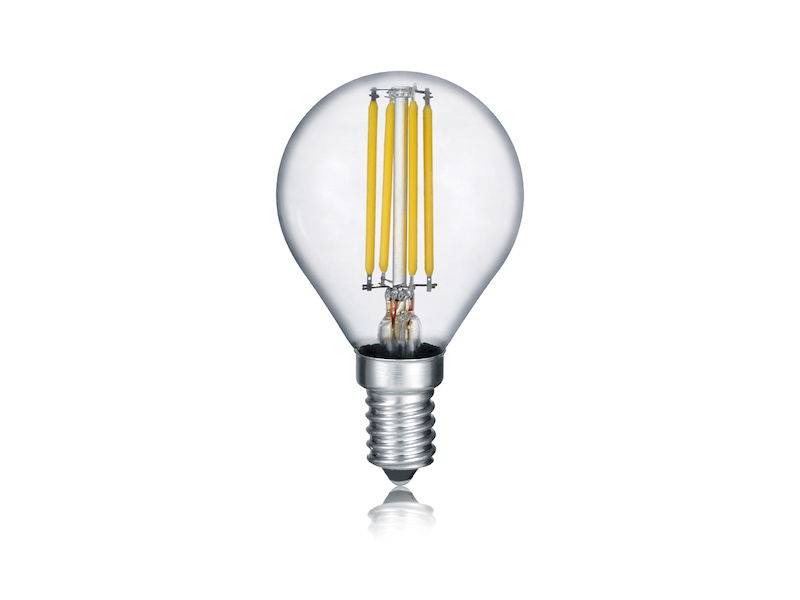 Glas E14 LED Leuchtmittel Tropfen mit 6 Watt und 470 Lumen in Warmweiß dimmbar