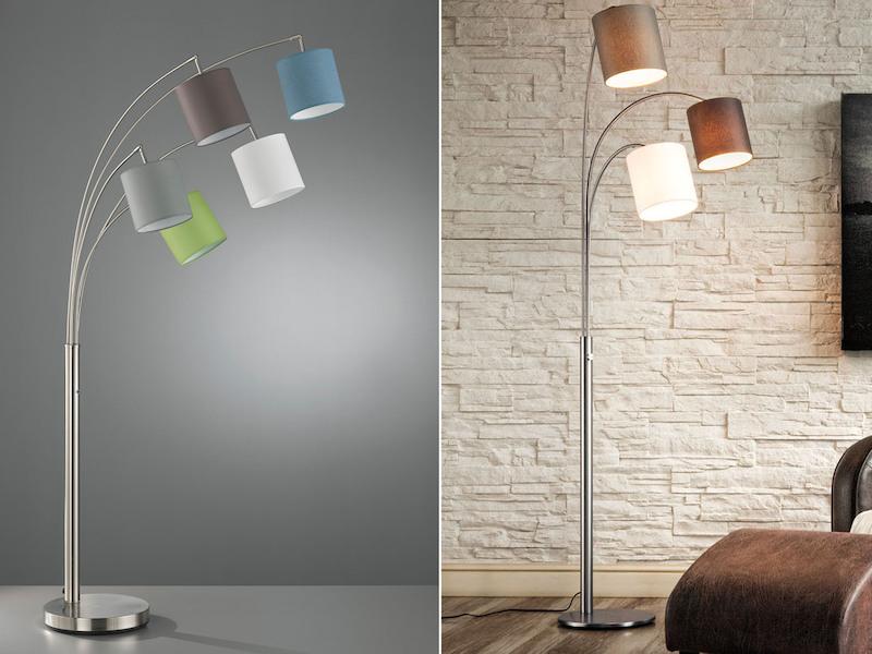 Asiatische Stehleuchte Asia Designer Lampen Stehlampen Naturlampen Blumen