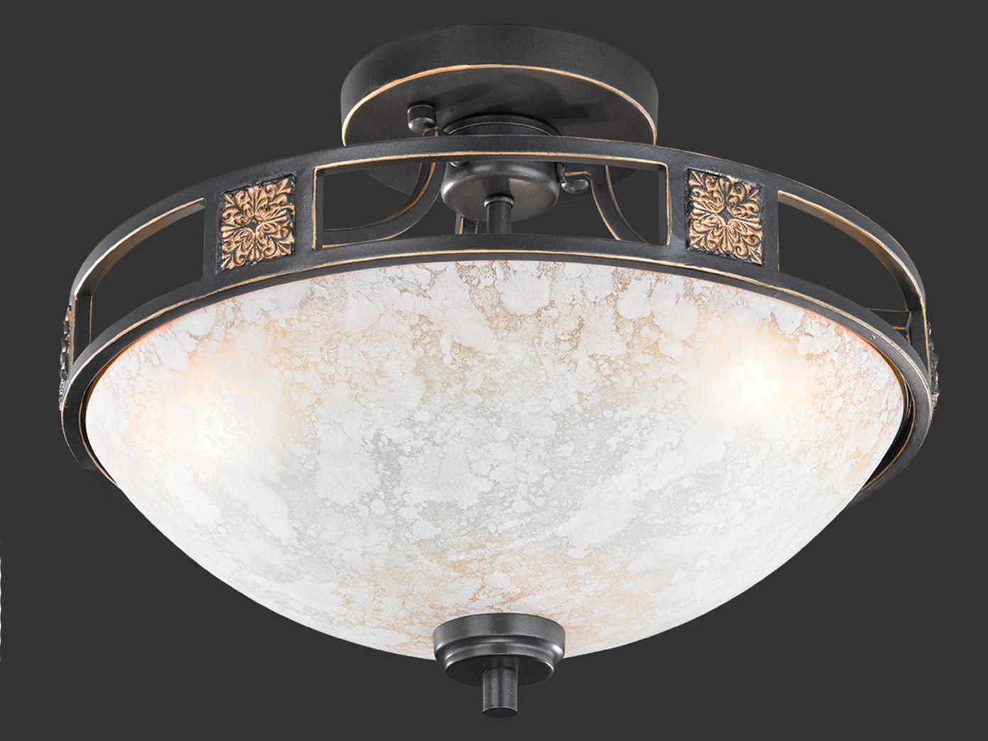 Runde Design Deckenlampen im Landhausstil aus Glas   dimmbare Wohnzimmerleuchten   eBay