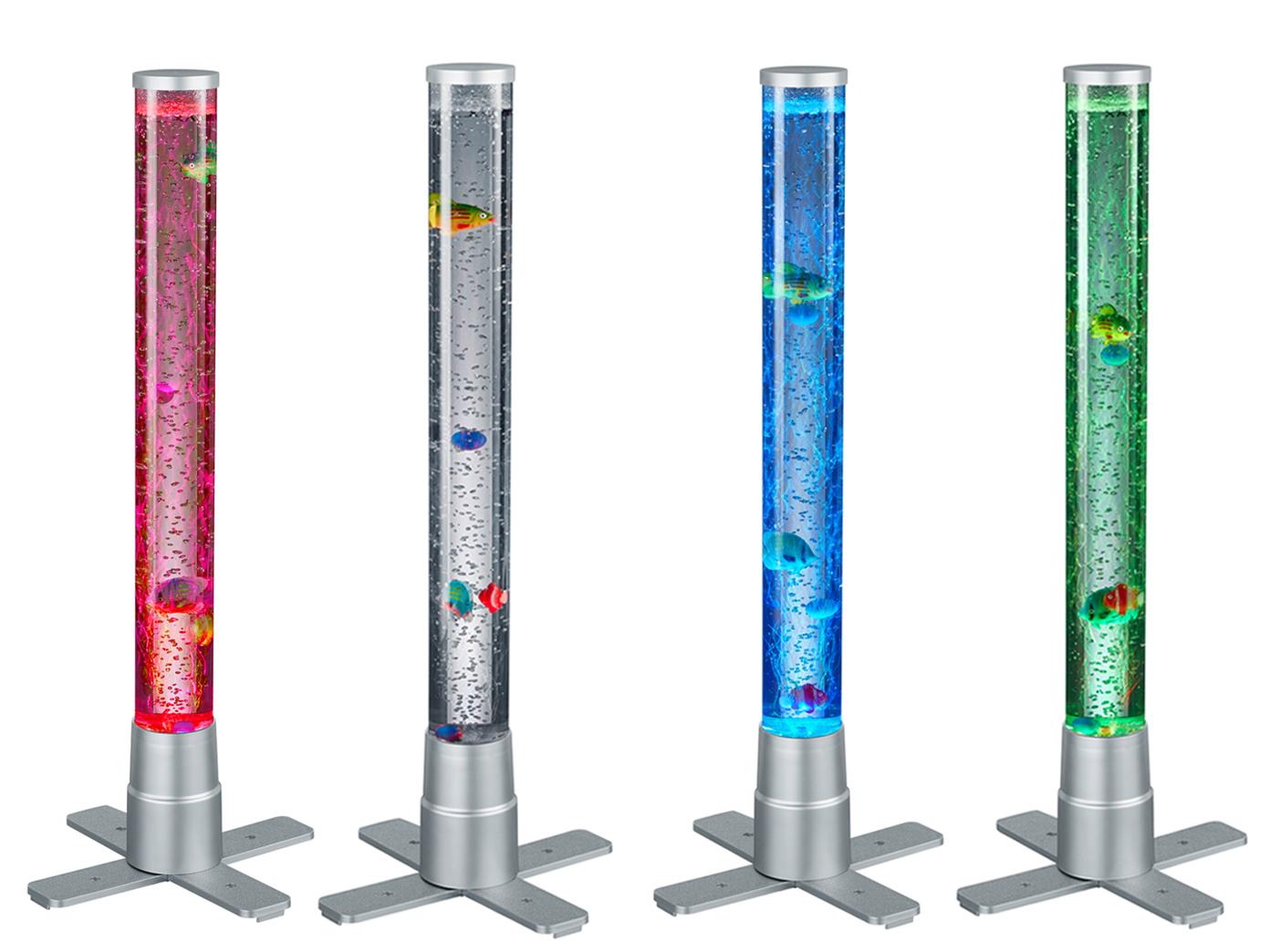 LED Wassersprudelsäulen mit Fischen Farbwechseler Lichtsäulen für Wohnzimmer