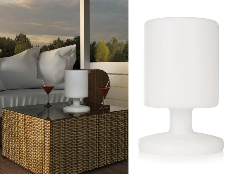 inkl Kabellose LED Tischleuchte für innen//außen Akku//Netzteil RANEX
