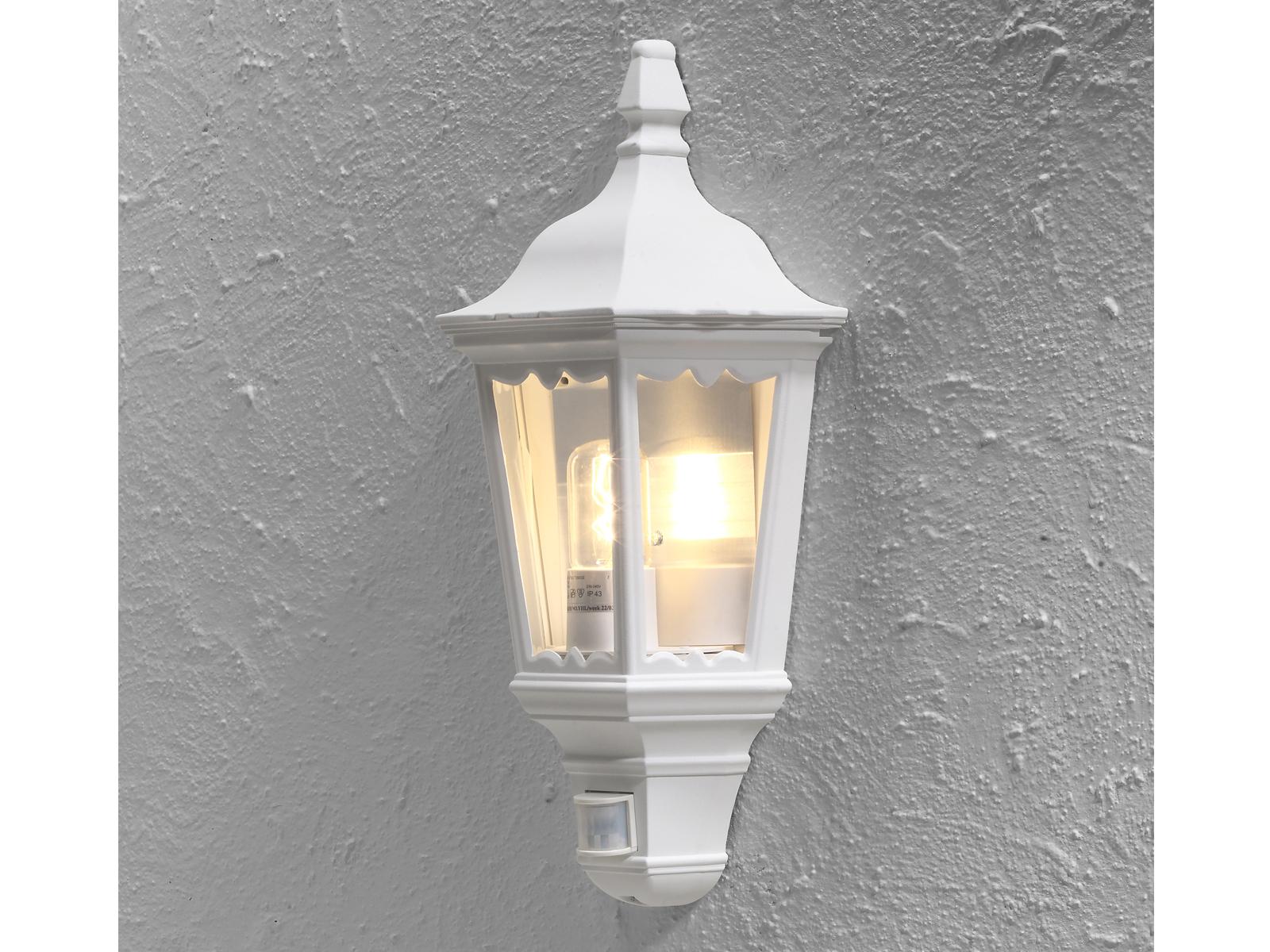 Mezza gusci außenwandleucht con rilevatore di movimento Firenze Lampada da parete