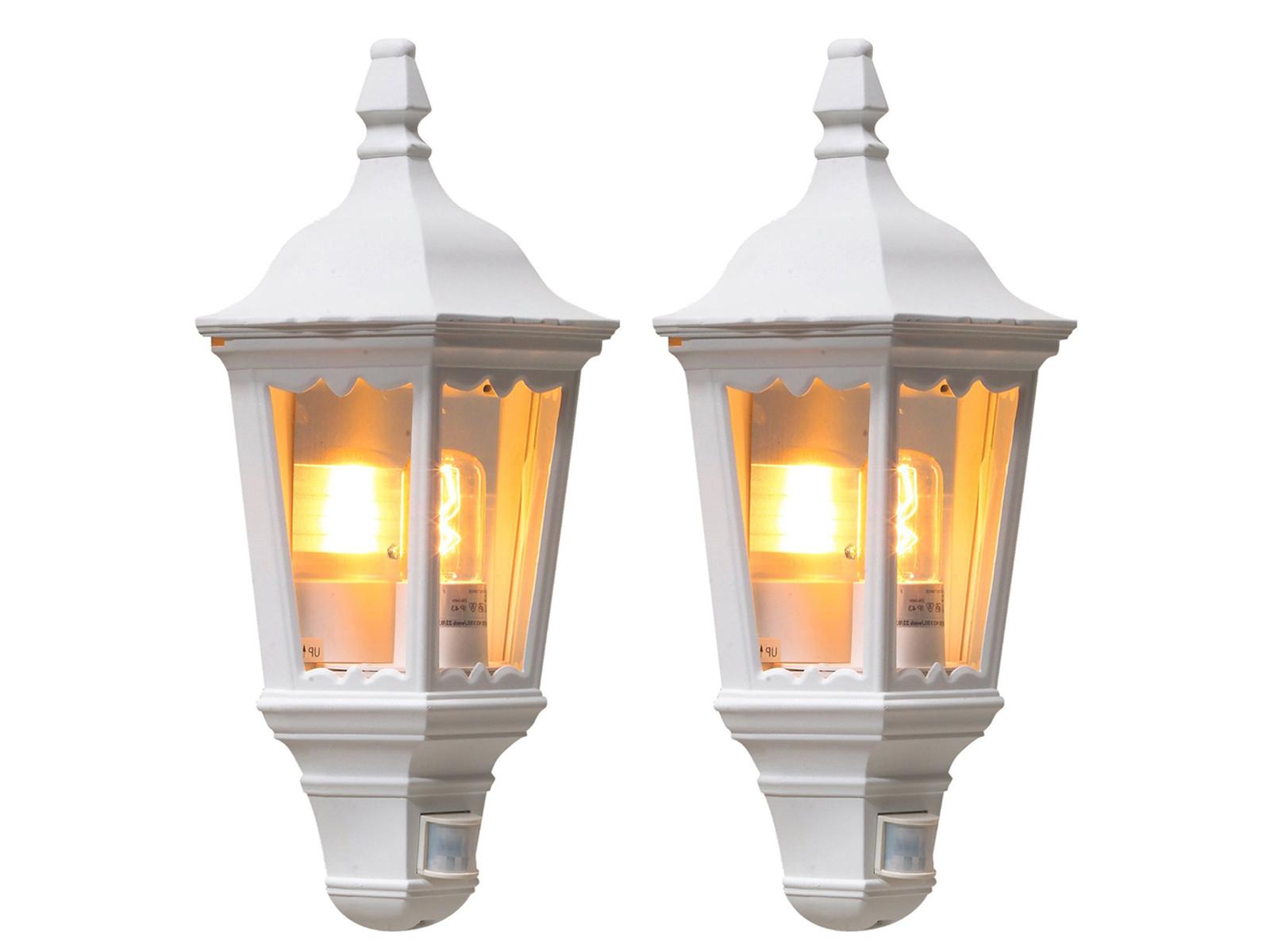 2er-set LAMPADE bianco con rilevatore di movimento Firenze ip43