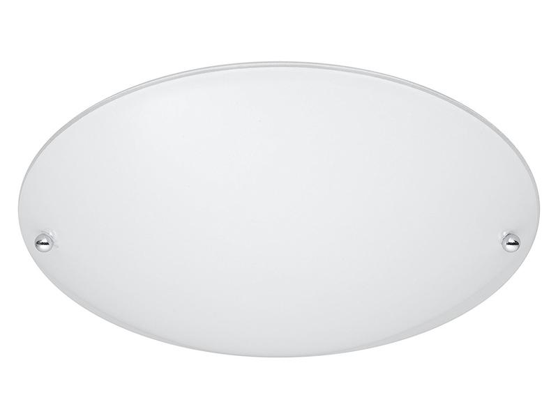 Klassik Deckenleuchte Wandleuchte 2x E27 230V 33cm Metall-Rahmen rund weiß matt